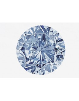 Lab-Grown Diamond Fancy Vivid Blue 0.84ct SI2