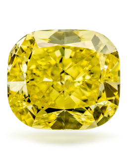 Lab-Grown Diamond Fancy Vivid Orangy Yellow 1.02 CUSHION