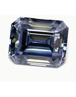 5.01ct  VS2 Fancy Blue EMERALD CUT